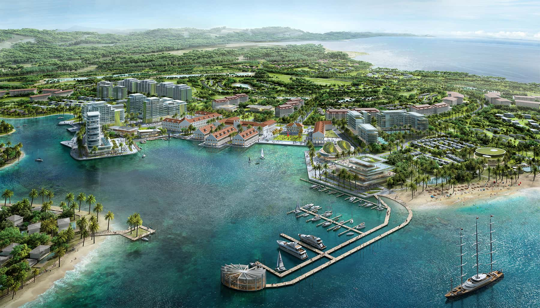 Malaysia • Harbor • Beach • Resort • Hotel