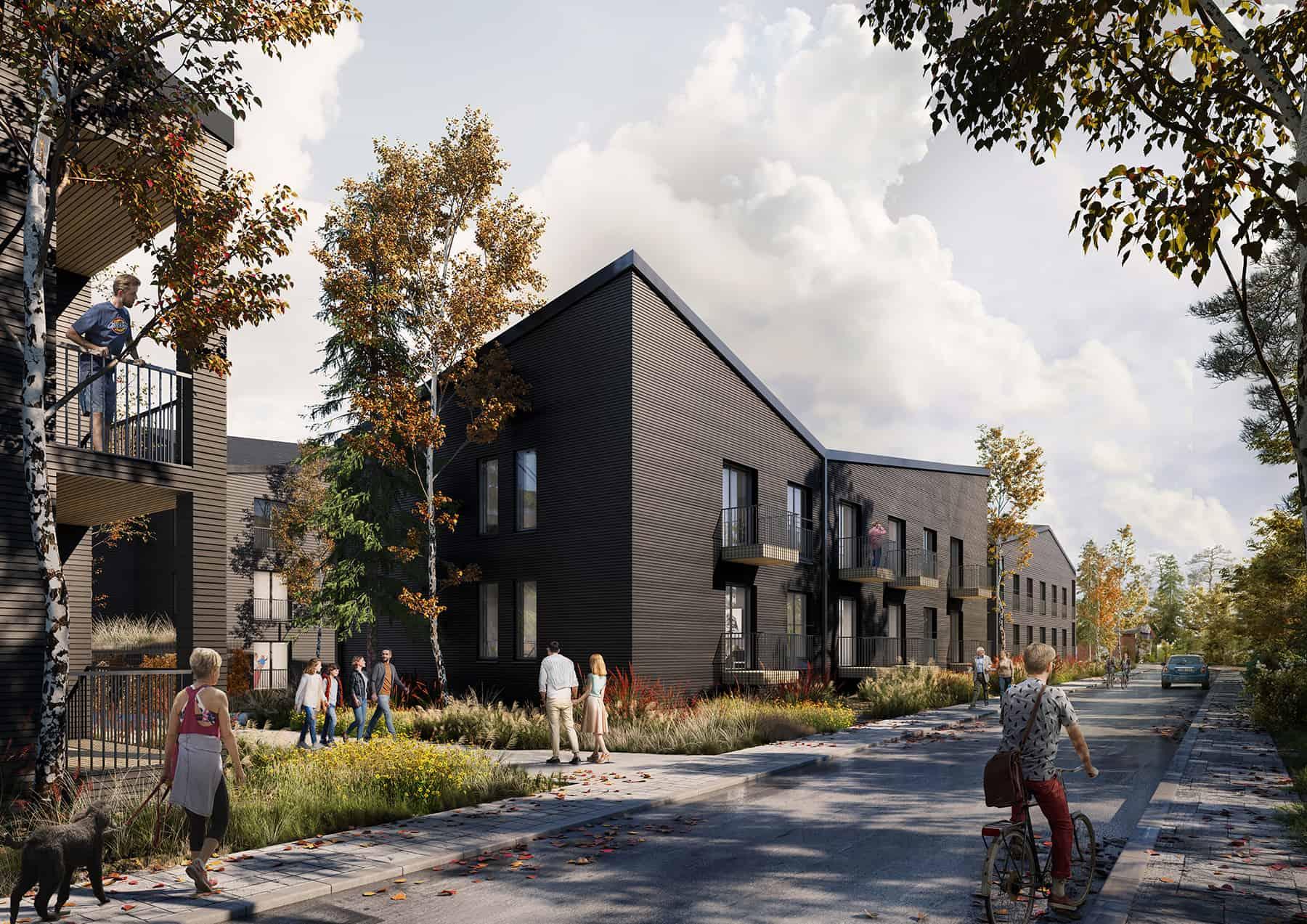 Finland • Apartments • Wood Facade